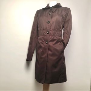 Kenneth Cole Reaction long brown trench coat